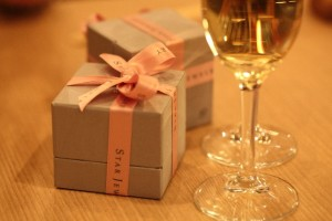 シャンパンとジュエリーボックス