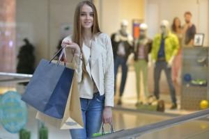 ショッピング外人女性