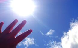 手の平と太陽